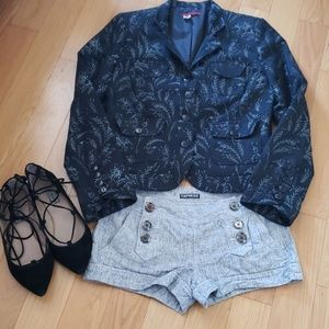 Anthropologie floral brocade jacket size 8